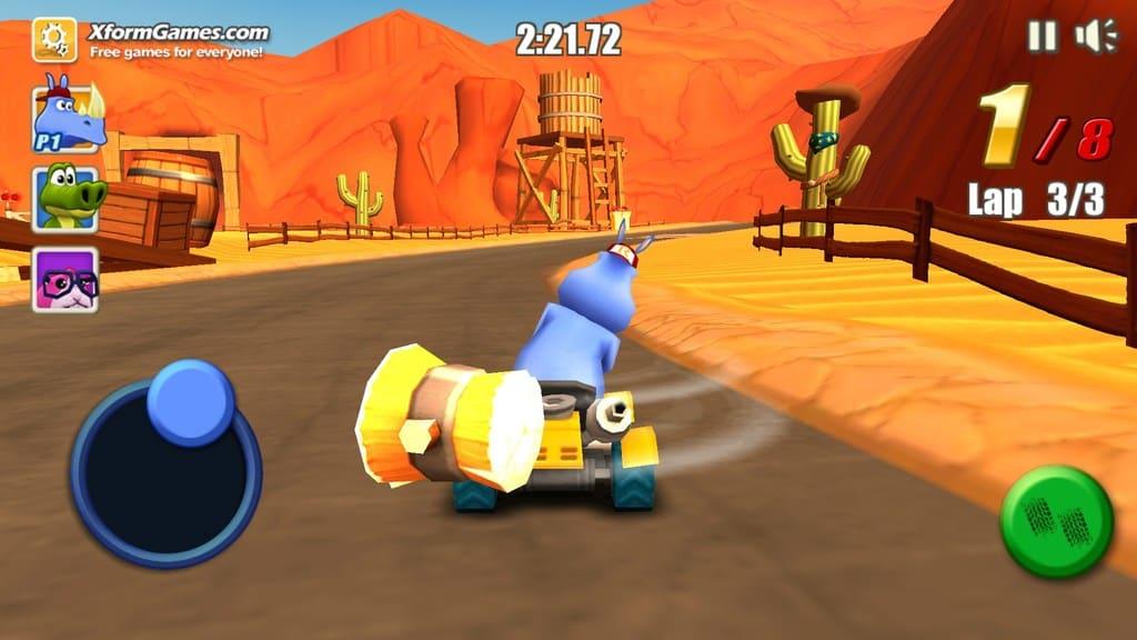 بازی های مسابقه ای kart به مکانیسم های آسان رانندگی در کنار موانع ، طراحی مسیرهای معمولی و عناصر مختلف شناخته می شوند .