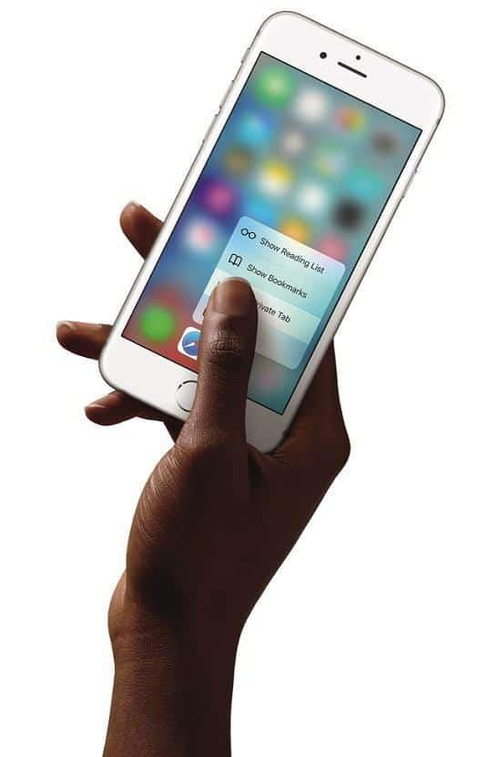 مشکل های متداول آیفون ۷ (مشکل ۶): فیدبک لمسی ۳D Touch دیگر عمل نمیکند