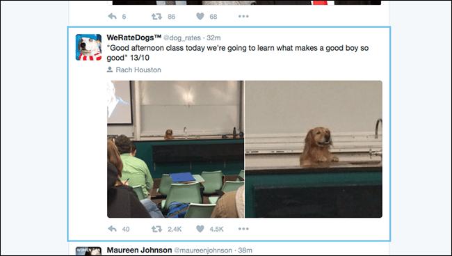 جا به جایی میان توئیت ها با استفاده از میانبرهای کیبورد توئیتر