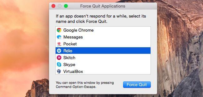 نحوه بستن اجباری برنامه ها در سیستم عامل Mac OS X