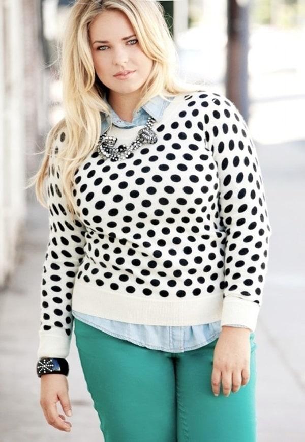 خانمهای چاق هم می توانند لباس های مد روز بپوشند