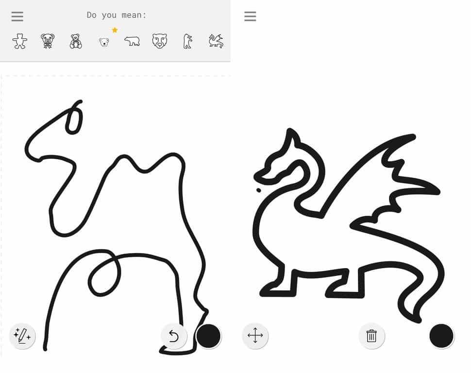 تجربه استفاده از روبات نقاشی گوگل (نرم افزار AutoDraw)