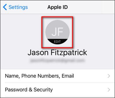 چگونگی تغییر عکس پروفایل iCloud