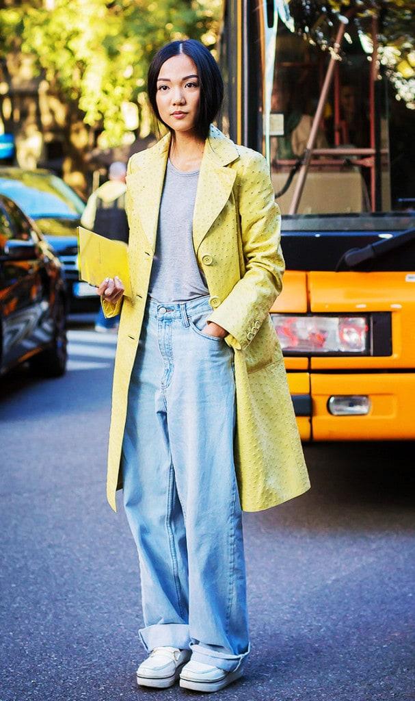 ترکیب رنگ زرد و آبی و توسی