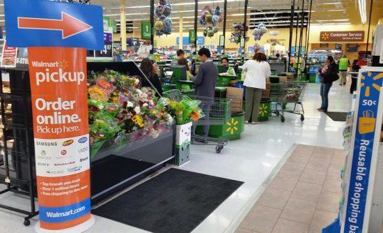 مکان تحویل خرید اینترنتی در فروشگاه وال مارت