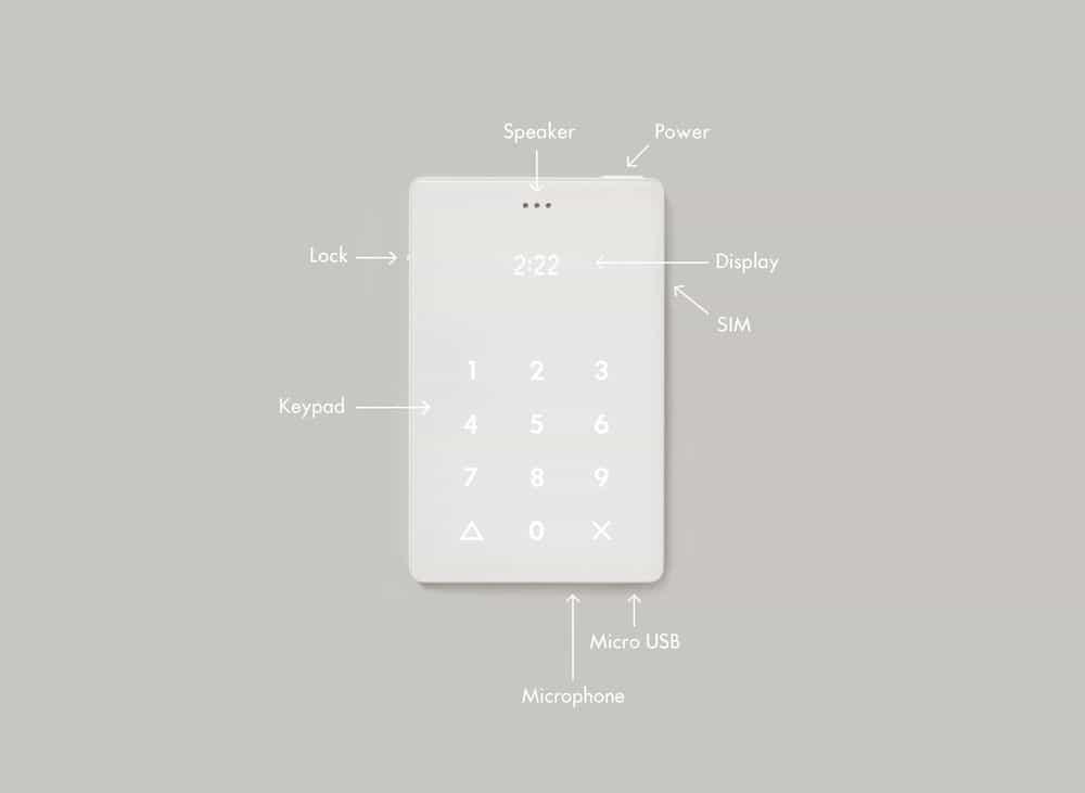 گوشی لایت فون با طراحی مینیمالیستی