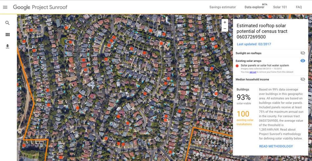 پروژه سانروف گوگل (Project Sunroof)