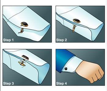 روش بستن دکمه سردست یک اکسسوری مردانه