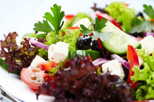 کاهو و سالاد سبزیجات
