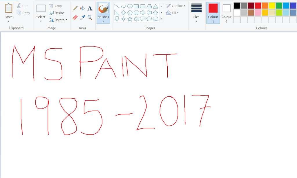 پایان کار ابزار Paint مایکروسافت