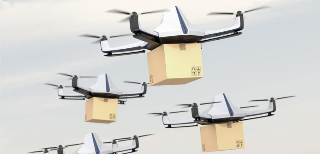 وقتی سفارشات اینترنتی از راه هوایی میرسند! هواپیماهای بدون سرنشین