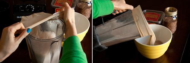 تصفیه شیر کتان با جوراب شلواری