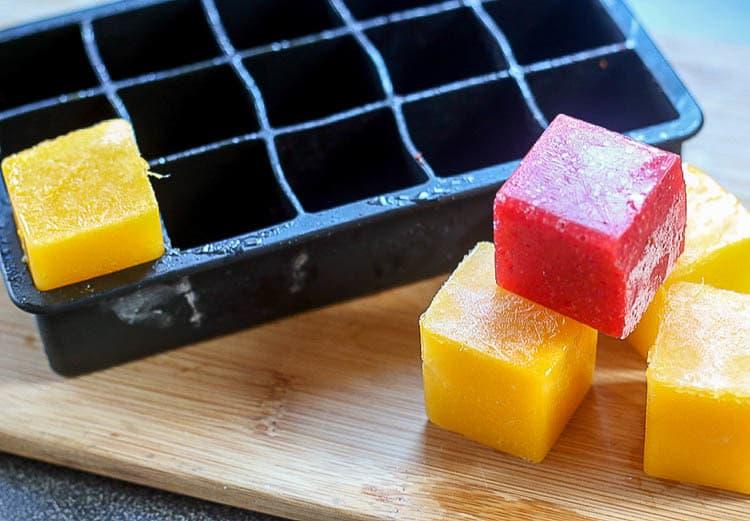 یخ میوه ای با پوره میوه و سبزیجات