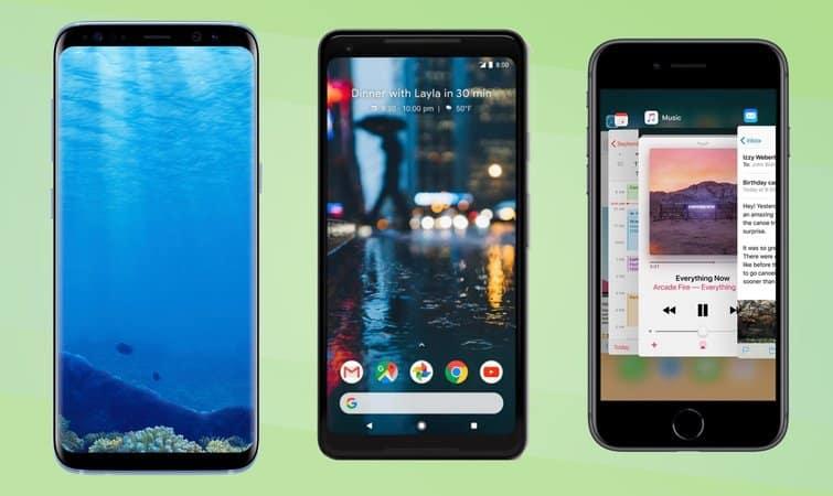 مقایسه گوشی Pixel 2