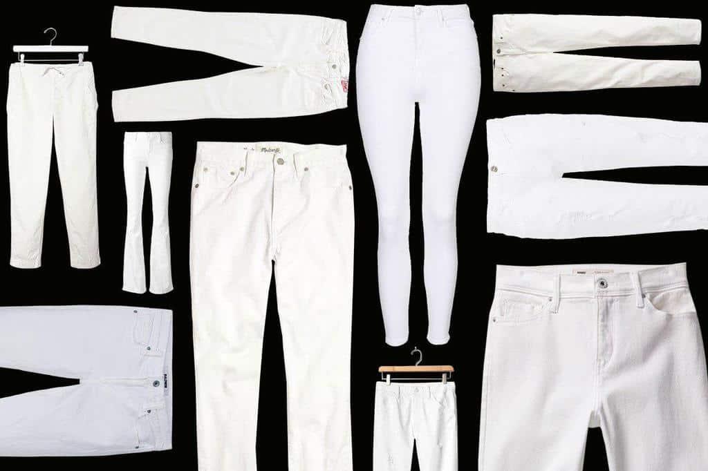 شلوار جین سفید زنانه را در فصل پاییز به این روش بپوشید
