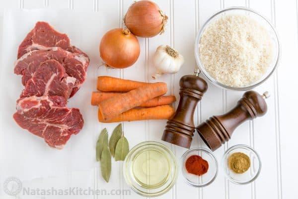 چلو گوشت هویج