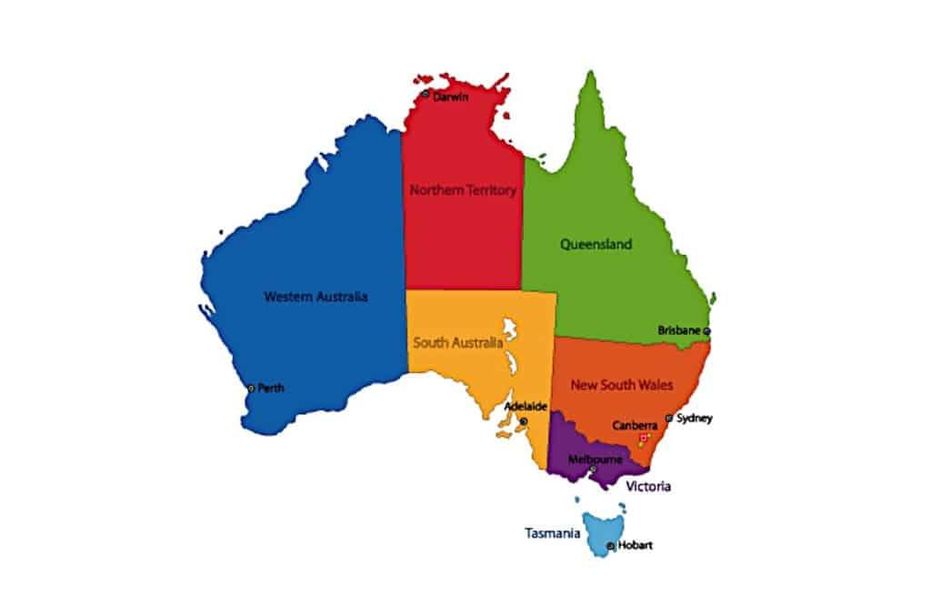 استرالیا از نظر مساحت، ششمین کشور بزرگ در جهان به شمار میرود.