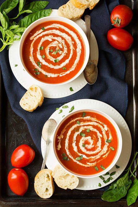 سوپ گوجه سریع
