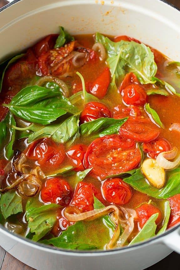 گوجه و ریحان