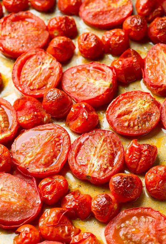 گوجه برشته در فر