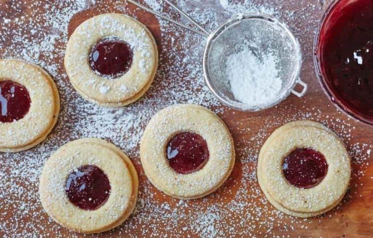 شیرینی مربایی لینزر ؛ شیرینی مخصوص عید نوروز