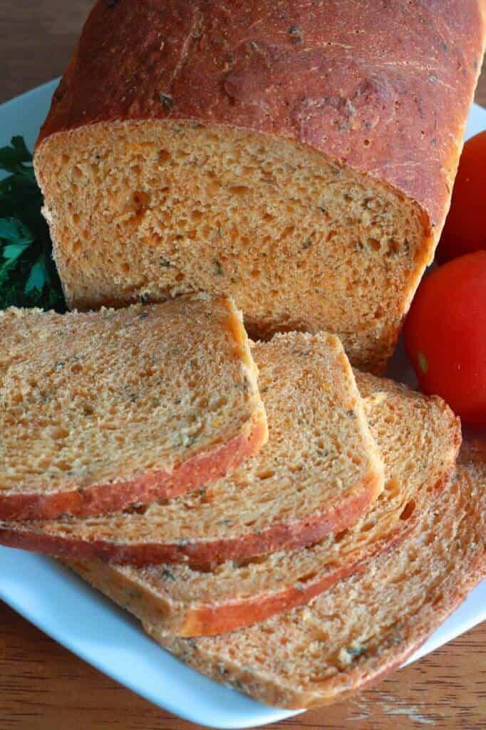نان گوجه و سبزی