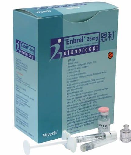 داروی انبرل (Enbrel)، که با نام عمومی اتانرسپت (Etanercept) نیز شناخته میشود