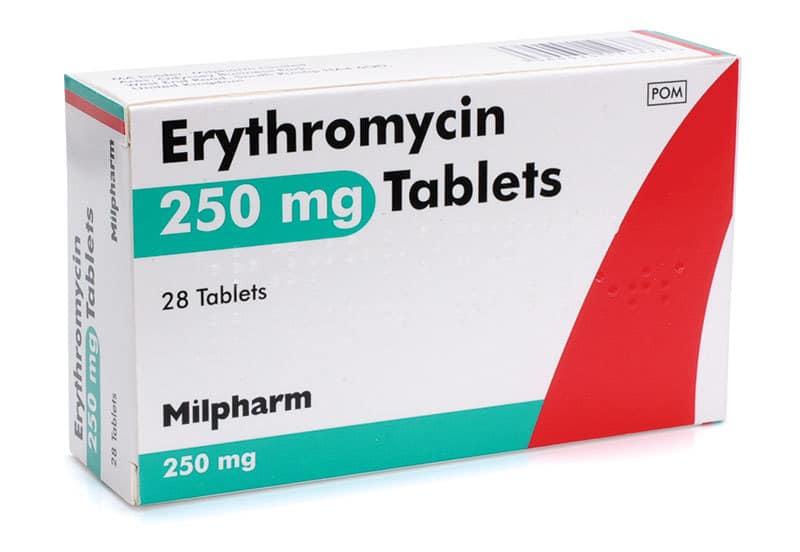 داروی اریترومایسین (erythromycin)