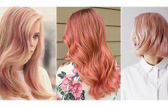 رنگ رزگلد محبوبترین رنگ موی حال حاضر در دنیای زیبایی