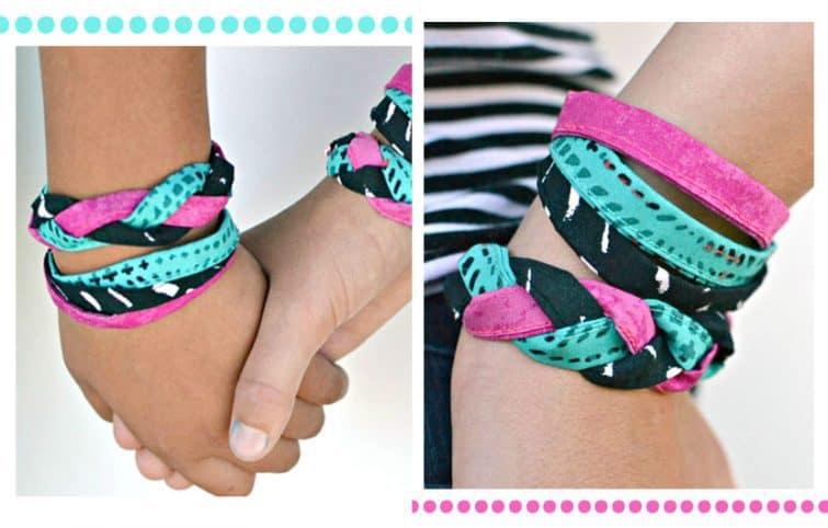 آموزش آسان و سریع دوخت دستبند دوستی پارچهای برای کودکان و بزرگسالان