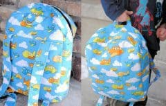 آموزش دوخت کوله پشتی مهد کودک برای کودکان در آستانه سال تحصیلی جدید