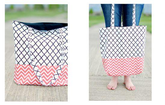 آموزش دوخت کیف دستی پارچهای ساده برای خرید و استفاده روزمره