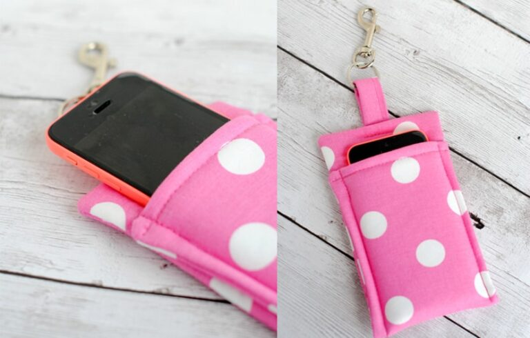 آموزش دوخت کیف موبایل با استفاده از پارچههای اضافی و مواد دورریختنی