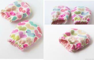 آموزش دوخت دستکش نوزادان به روش ساده با استفاده از پارچههای اضافی