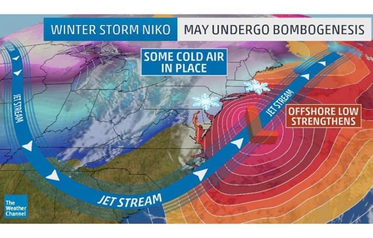 بمب گردباد یا طوفان زمستانی چیست و چگونه به وجود میآید؟