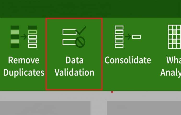 آموزش کاربردی اکسل–معرفی کامل دیتا ولیدیشن (Data validation) در نرم افزار اکسل