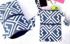 روش دوخت کیف دوشی کوچک برای حمل چیزهای ضروری و روزمره