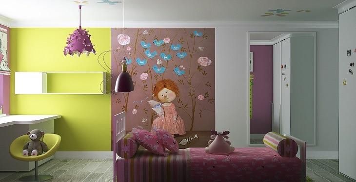 تزیین اتاق خواب دخترانه