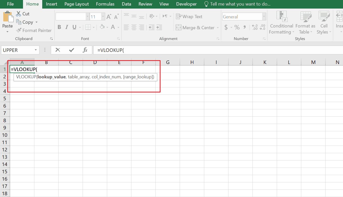 طرز نوشتن فانکشن Vlookup در اکسل