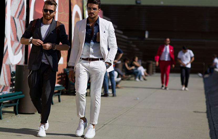 آیا میتوان کفش کتانی مردانه را با کت و شلوار پوشید؟ کارشناسان پاسخ میدهند