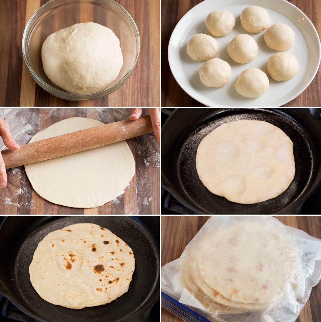 نان تورتیلا خانگی