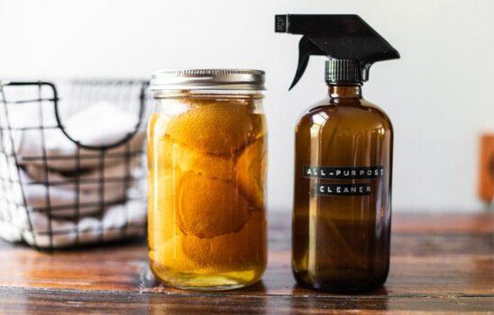 ۱۵ روش تمیز کردن خانه با پاک کننده طبیعی بدون نیاز به مواد شیمیایی
