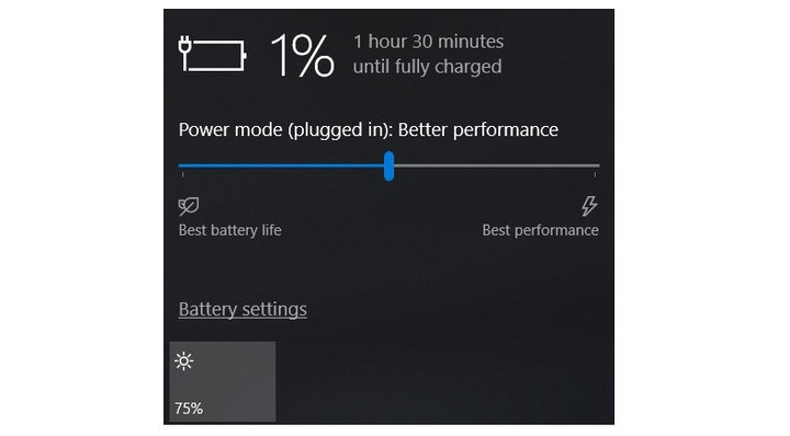 تنظیمات باتری لپ تاپ